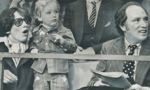 Two-year-old Justin Trudeau with parents