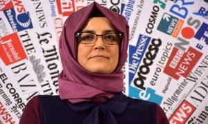 Hatice Cengiz, the fiancee of murdered Saudi Arabian journalist Jamal Khashoggi