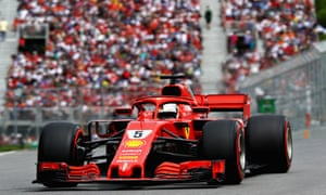 Sebastian Vettel dominated the Canadian Grand Prix in his Ferrari to catapult himself back into the driving seat in the F1 drivers' championship ahead of Lewis Hamilton.