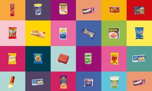 Montage of processed food products