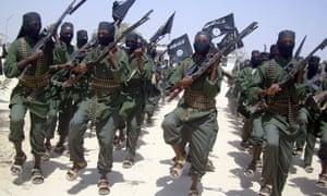Al-Shabab fighters outside Mogadishu, Somalia, in 2011