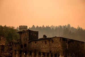 The Farmhouse at the Castello di Amorosa winery was gutted by the Glass fire.