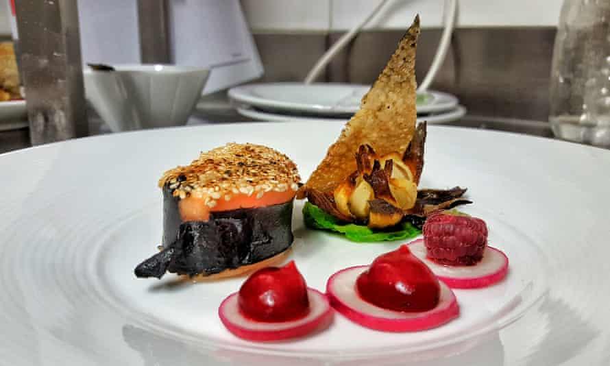 A dish at Chalet Saskia. Vaujany, France.