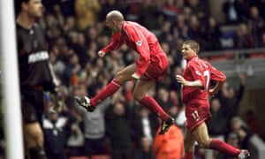 """Steven Gerrard joins Gary McAllister in celebration. """"He was a master-class on legs,"""" said the future Liverpool captain of the Scott"""