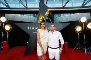 Samantha Harris and Luke Hunt.