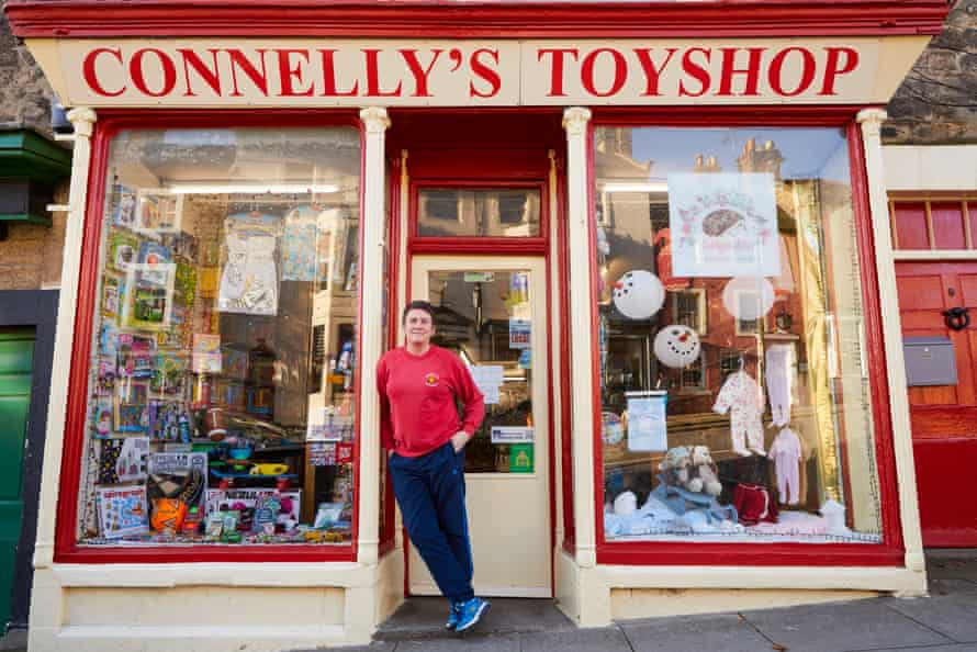 Pauline Connelly outside her toyshop.