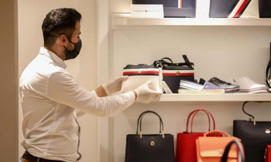 Tommy Hilfiger shop reopening in Azerbaijan.