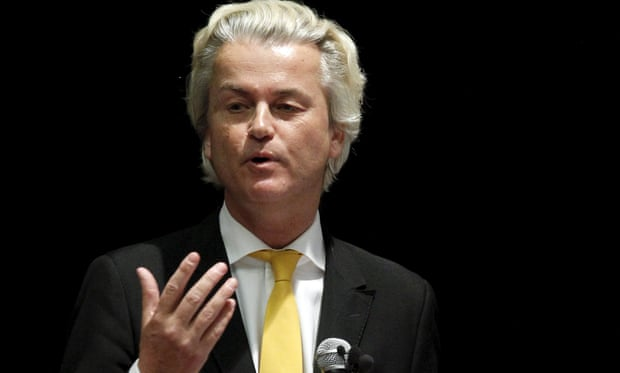 The 54-year old son of father (?) and mother(?), 195 cm tall Geert Wilders in 2018 photo