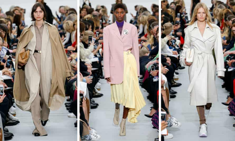 Next spring's collection, a lesson in candy pastels and sleek women's tailoring.