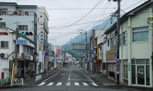 Quiet neighbourhood street in Japan.