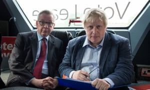 Michael Gove and Boris Johnson during the referendum campaign in 2016.
