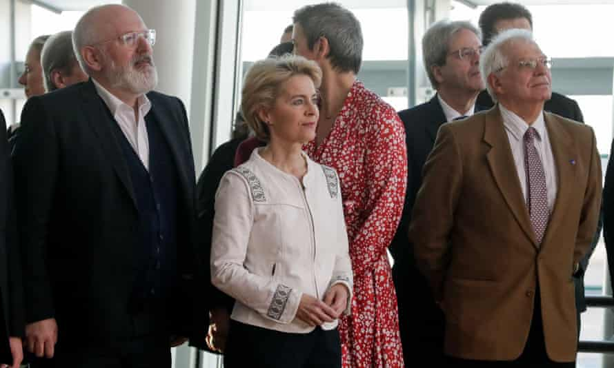 Borrell (right) with the European commission president, Ursula von der Leyen, at the new commission's first meeting last week