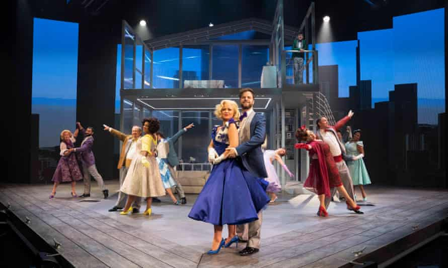 Kimberley Walsh and Jay McGuiness in Sleepless, A Musical Romance at Troubadour Wembley Park Theatre in London