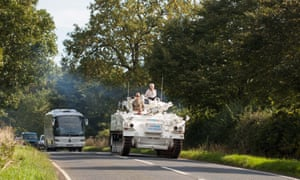 Demonstrators en route through the Oxfordshire countryside