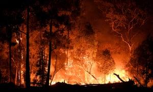 Bushfires burn across New South Wales, Australia