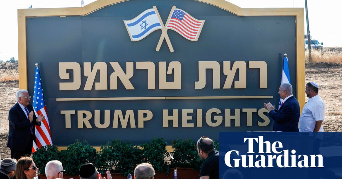 Minefields and ruins: Israeli settlement called Trump built on conquered land
