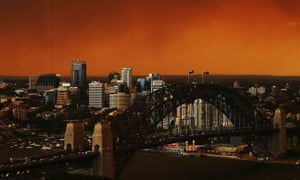 Sydney pictured shrouded in smoke during the 2013 bushfires.