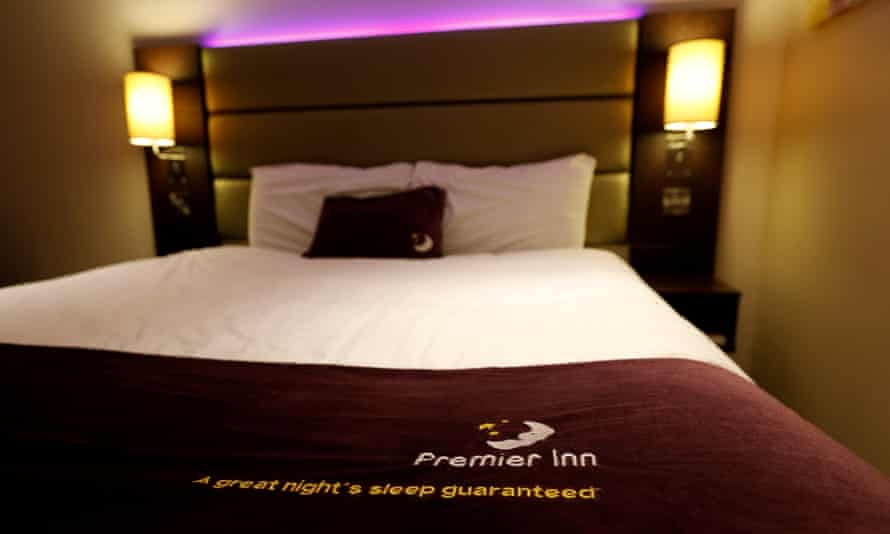 A bed at a Premier Inn hotel in Liverpool