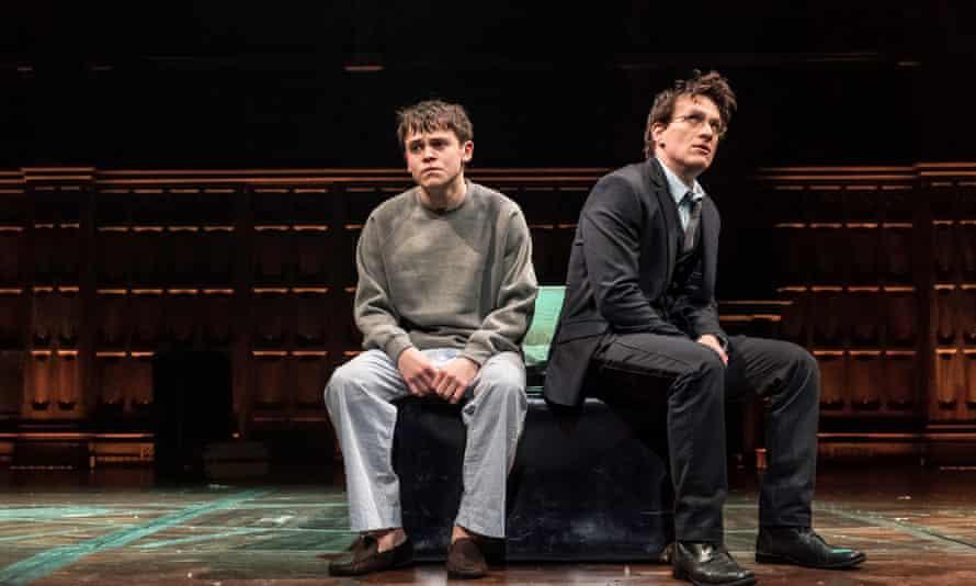 Sam Clemmett (Albus Potter) and Jamie Parker (Harry Potter).