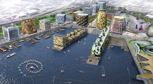 Is that Marge Simpson's hair? … Will Alsop's colourful masterplan.
