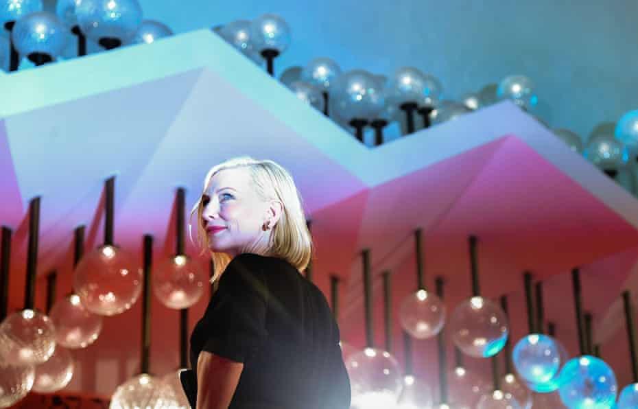 Cate Blanchett, jury president of the 77th Venice international film festival, arrives at a screening last week.