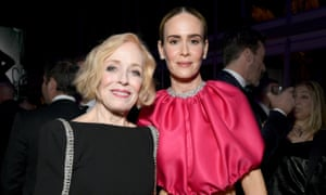 Holland Taylor (L) and Sarah Paulson attend the 2019 Vanity Fair Oscar Party