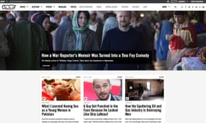 Website of Vice Media