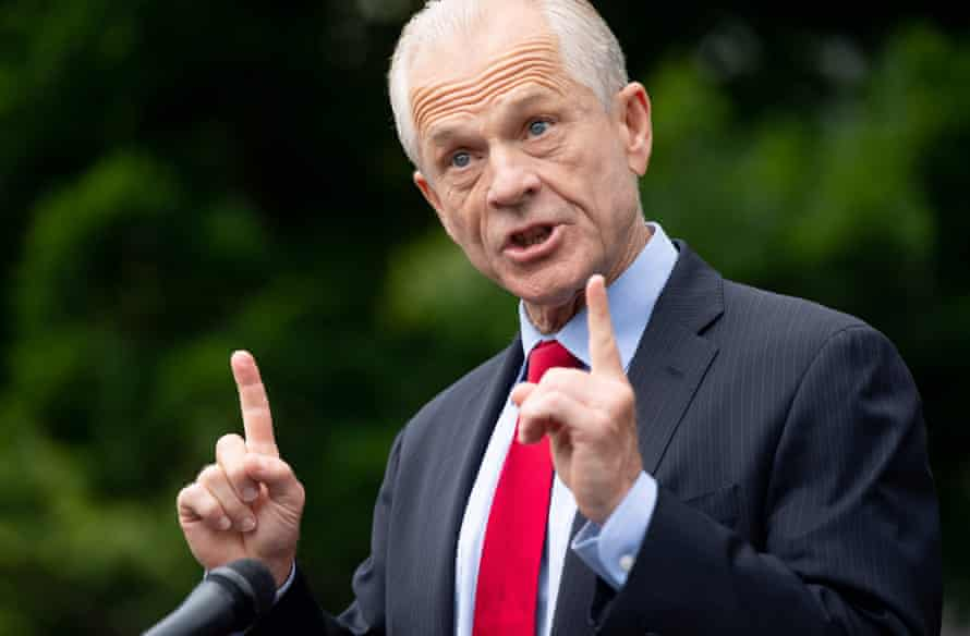 Trump's top trade adviser, Peter Navarro, has attacked the FDA in wild terms for its reversal on hydroxychloroquine.