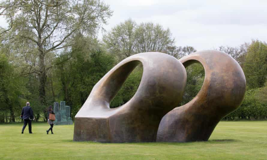 Outdoor sculpture at the Henry Moore Foundation, Hertfordshire