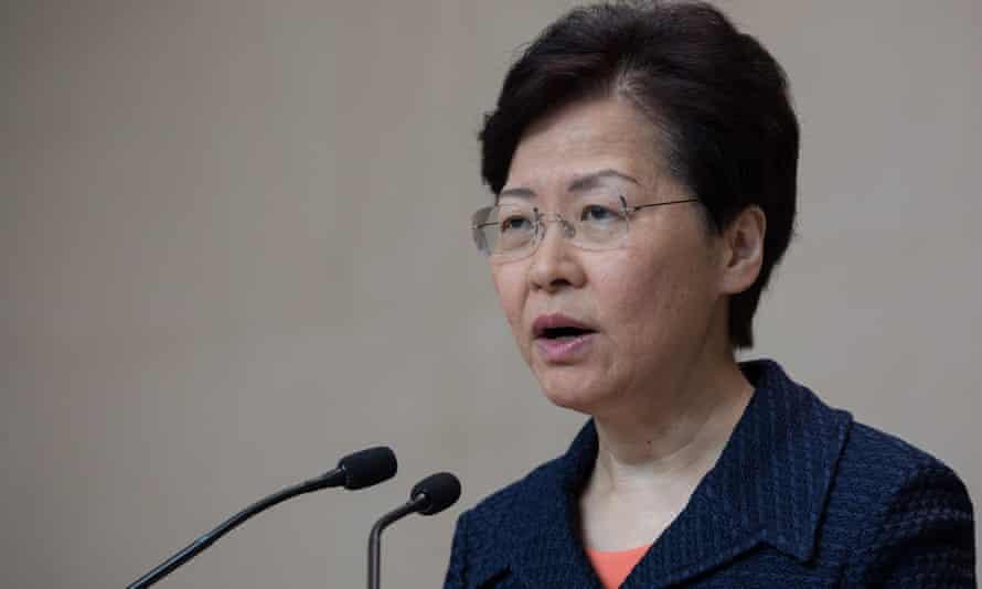 Hong Kong's chief executive, Carrie Lam
