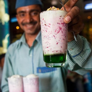 Falooda at the Famous Badshah Drink Shop in Mumbai India.