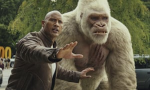 'The film's life force': Dwayne 'The Rock' Johnson in Rampage.