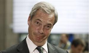 Ukip leader Nigel Farage in Brussels last Tuesday.
