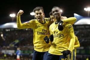 Ceballos scores for Arsenal