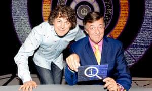 Stephen Fry with QI co-star Alan Davies