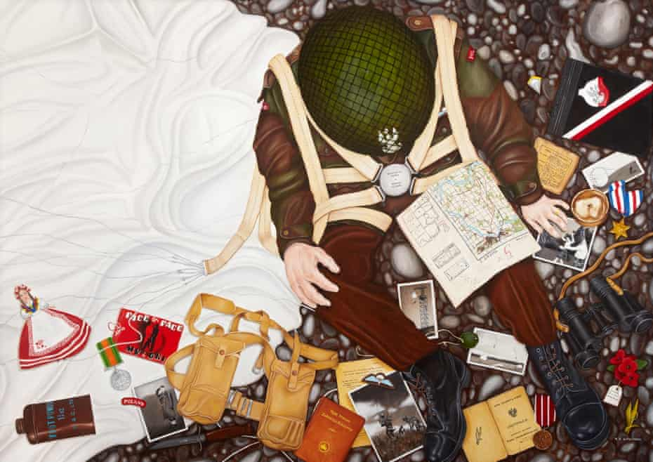 Memories of a Polish Paratrooper, 2006, H110 x W154cm by Marie Louise Wrightson (b.1972),