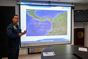 Dager displays a map showing military operations