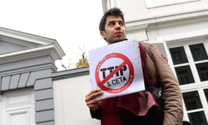 A TTIP and Ceta protester