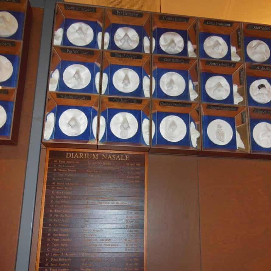 Get a whiff of this … the Nose Academy wall of fame in Sweden.