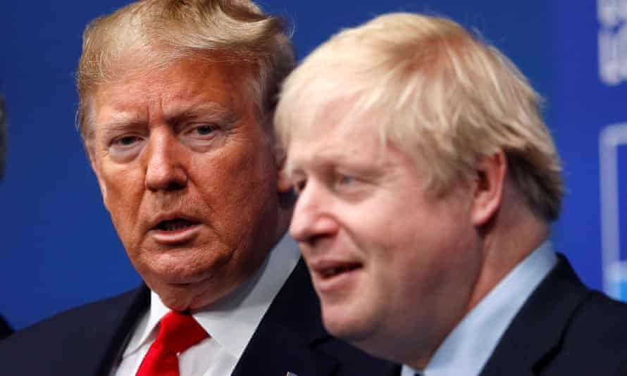 Boris Johnson with Donald Trump at last year's Nato leaders summit in Watford, UK