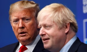 Donald Trump and Boris Johnson at NATO summit.
