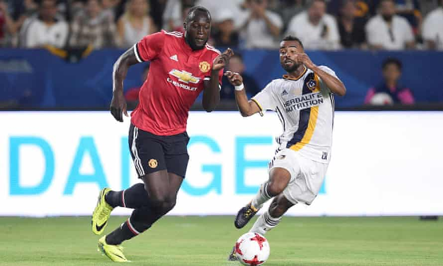 Romelu Lukaku played his first game for Manchester United against LA Galaxy on Saturday.