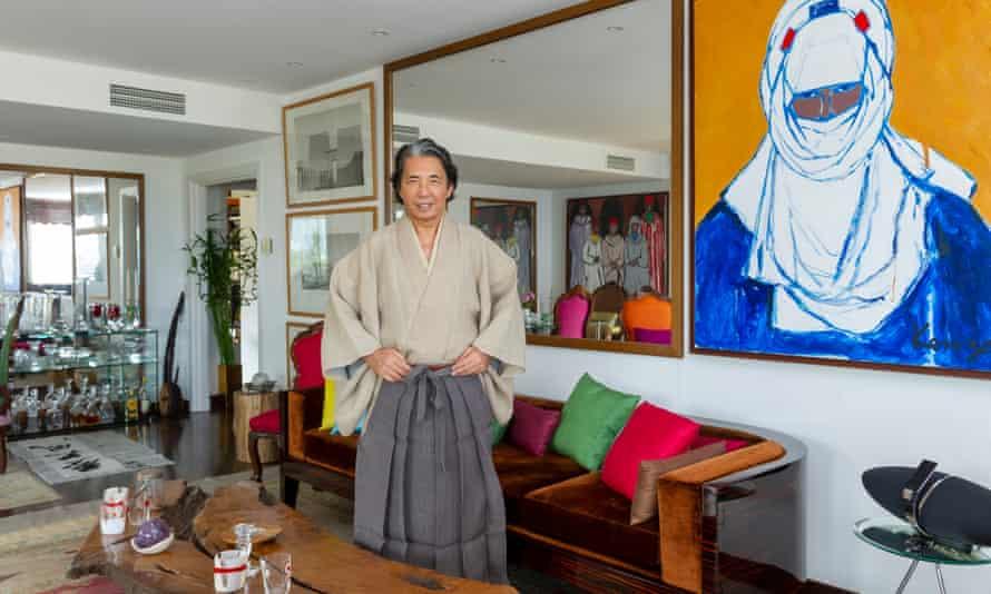 Kenzo Takada pictured in his Japanese Monaco flat in 2012.