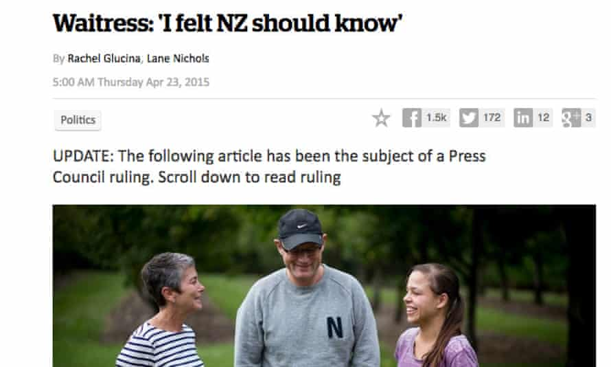 The article in the New Zealand Herald that was the subject of the complaint.