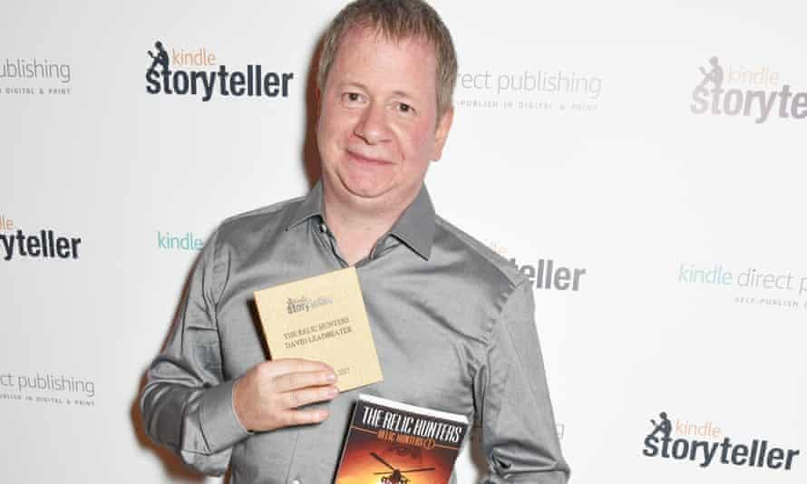 David Leadbeater with his Kindle Storyteller award.