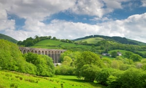 Spectacular views at the Cynghordy Viaduct, Wales.