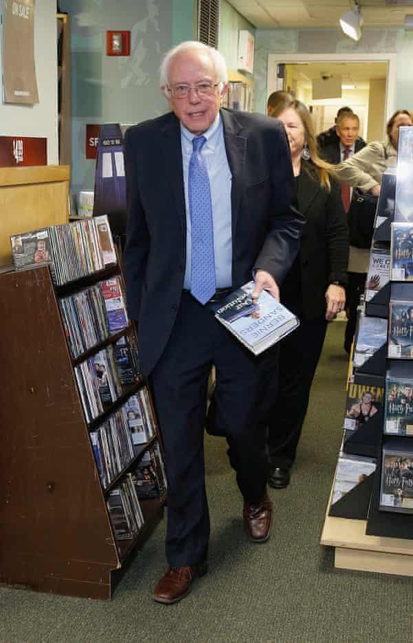 bernie sanders book signing