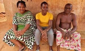 Lupita Nyong'o, centre, in Warrior Women.