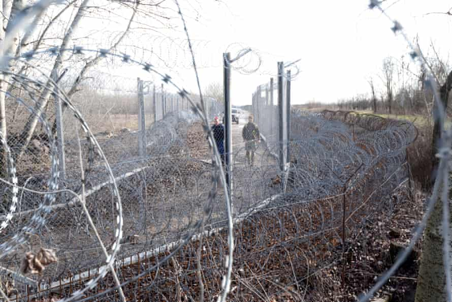 Border patrol on the border between Hungary and Serbia
