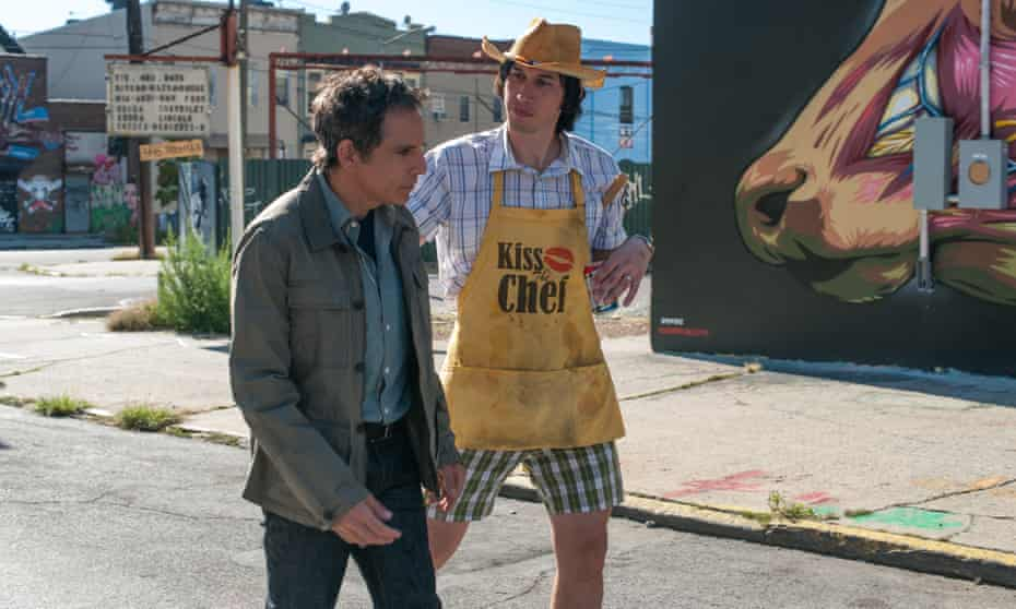 With Ben Stiller in While We're Young.